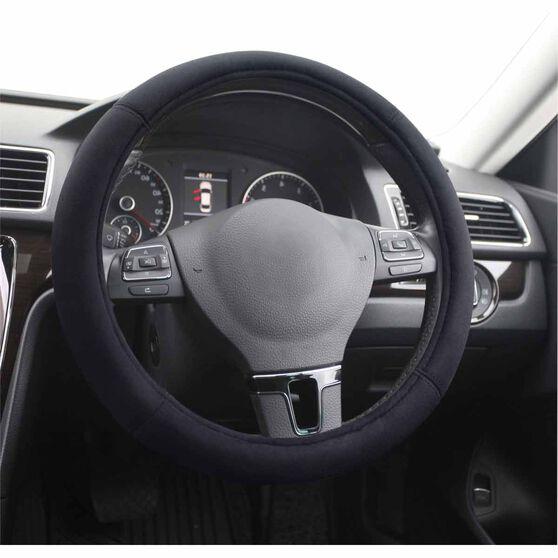 SCA Steering Wheel Cover - Suede Velour, Black, , scanz_hi-res