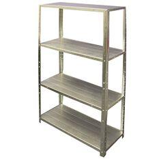SCA 4 Shelf Unit - Galvanised, 710mm, 50kg, , scanz_hi-res