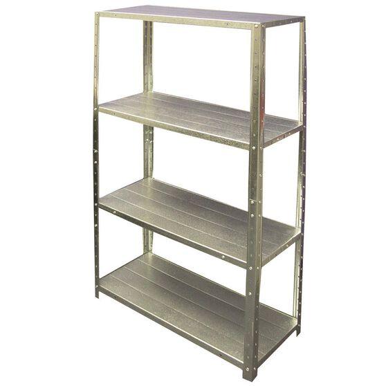 4 Shelf Unit - Galvanised, 710mm, 50kg, , scanz_hi-res
