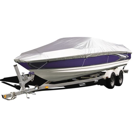 CoverALL Boat Cover Silver Protection - Water Resistant, Suits 16 - 18ft Boats, , scanz_hi-res