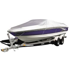 CoverALL Boat Cover Silver Protection - Water Resistant, Suits 19 - 22ft Boats, , scanz_hi-res