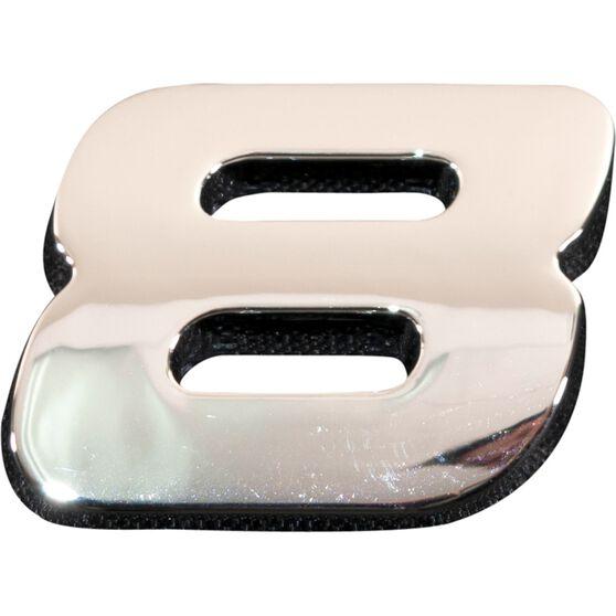 SCA 3D Chrome Badge Number 8, , scanz_hi-res
