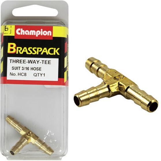 Champion T Pieces - 3 / 16inch, Brass, , scanz_hi-res