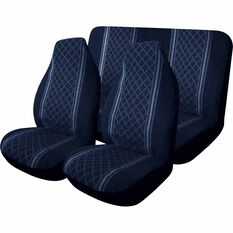 SCA Escort Seat Cover Pack - Blue, Built-in Headrests, Front Pair and Rear, , scanz_hi-res
