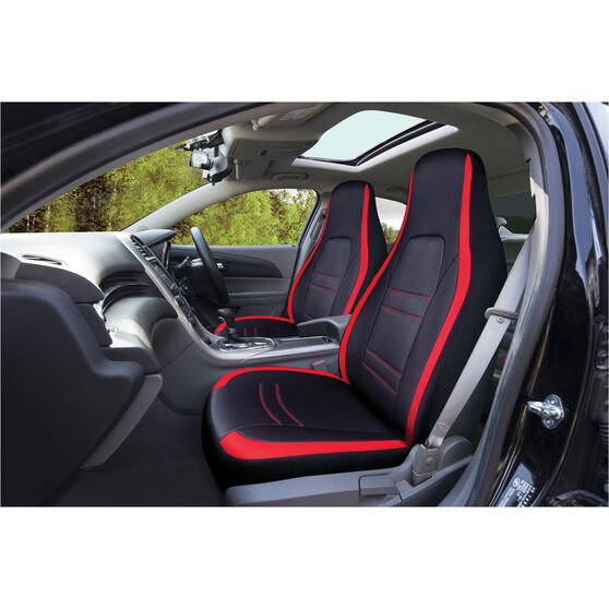 SCA Racing Seat Covers - Front Pair - Black / Red, , scanz_hi-res