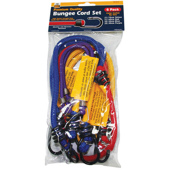 Gripwell Metal Hook Bungee Cord - 6 Pack, , scanz_hi-res