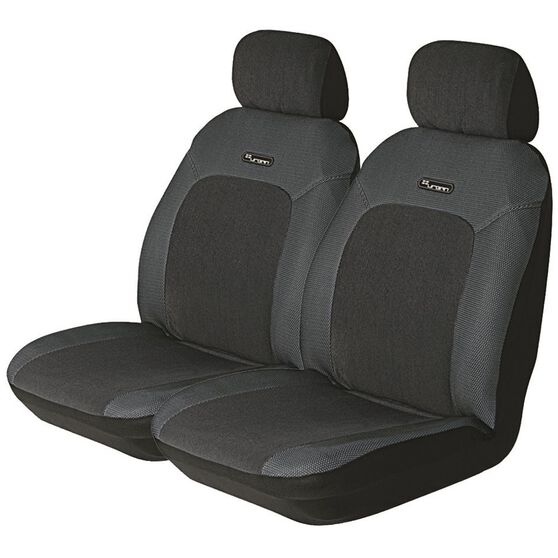 Seat Covers - Grey, Adjustable Headrests, Size 30, Front Pair, Airbag Compatible, , scanz_hi-res