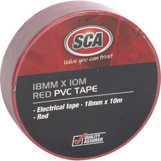 SCA PVC Electrical Tape - Red, 18mm x 10m, , scanz_hi-res