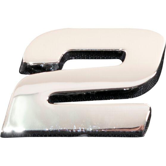 SCA 3D Chrome Badge Number 2, , scanz_hi-res