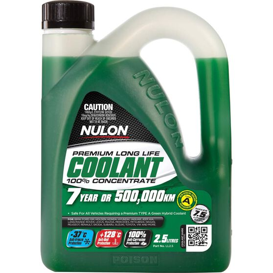 Nulon Green Premium Long Life Coolant Concentrate 2.5 Litre, , scanz_hi-res