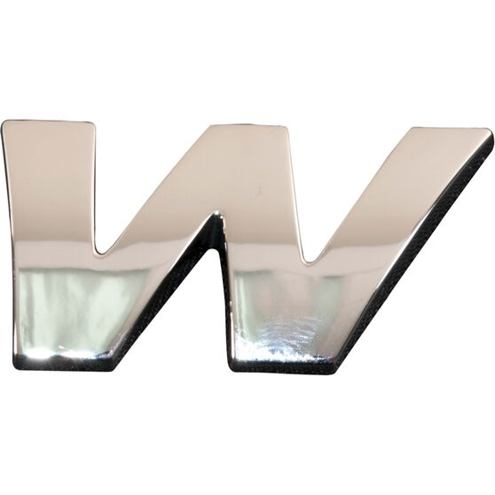 SCA 3D Chrome Badge Letter W, , scanz_hi-res