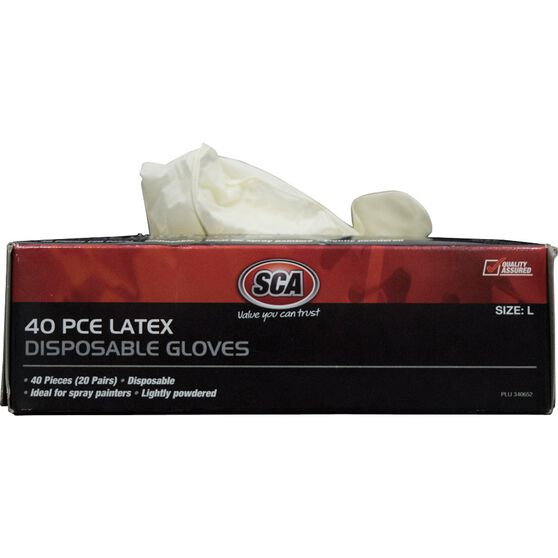 SCA Work Gloves - Latex, Large, 40 Pack, , scanz_hi-res