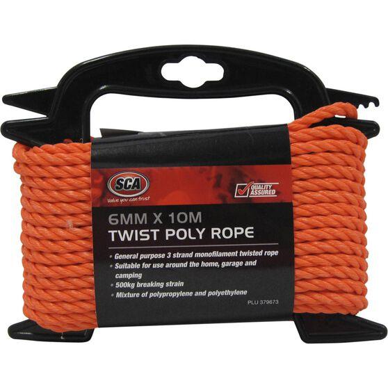 SCA 3 Strand Twist Poly Rope - 6mm X 10m, , scanz_hi-res