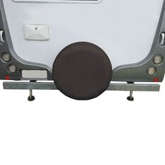 SCA Caravan Spare Wheel Cover - 27 inch, Black, , scanz_hi-res