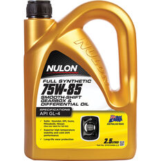 Nulon Gear Oil 75W-85 Full Synthetic 2.5 Litre, , scanz_hi-res