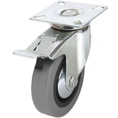 SCA Castor Wheel - 100 x 25mm, Metal Brake, Swivel, , scanz_hi-res