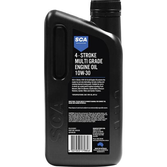 SCA Multi-Grade Small Engine Oil 4 Stroke 10W-30 1 Litre, , scanz_hi-res