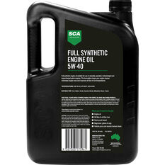 SCA Full Synthetic Engine Oil 5W-40 A3/B4 5 Litre, , scanz_hi-res