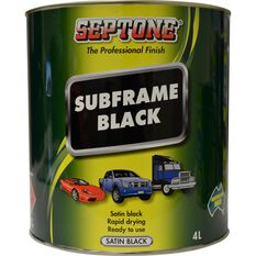Septone Subframe Paint - Satin Black, 4 Litre, , scanz_hi-res