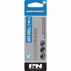P&N Workshop Drill Bit HSS - Tin Tipped, 1 / 8 inch, 2 Pack, , scanz_hi-res