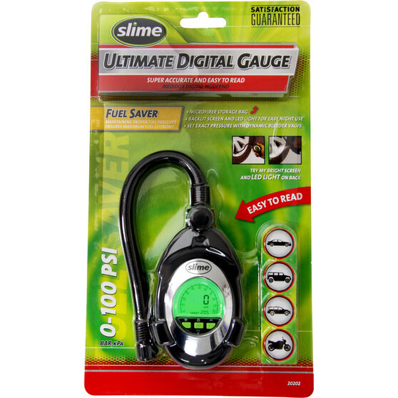 Slime Digital Deluxe Tyre Gauge - 0-100 PSI, , scanz_hi-res