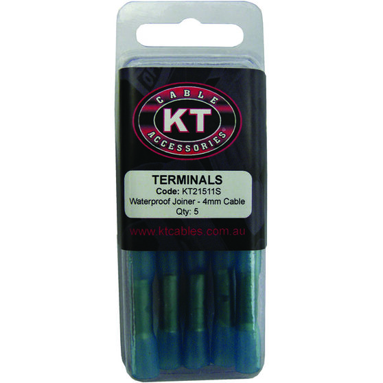 KT Cable Waterproof Butt Splice - Blue, 5 Pack, , scanz_hi-res