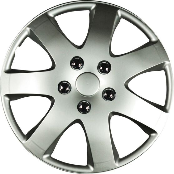 Wheel Covers - Compass, 14, Silver, 4 Piece, , scanz_hi-res