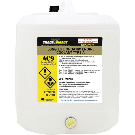 Trade Direct Long Life Type A Coolant Concentrate Coolant, 20 Litre ST/AC9/20, , scanz_hi-res