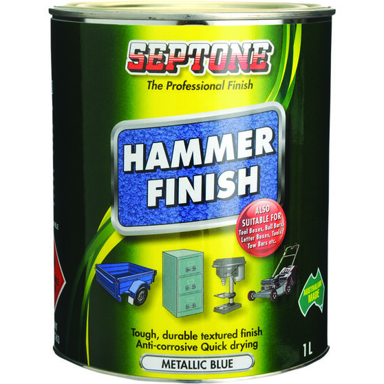 Septone Paint Hammer Finish - Metallic Blue, 1 Litre, , scanz_hi-res