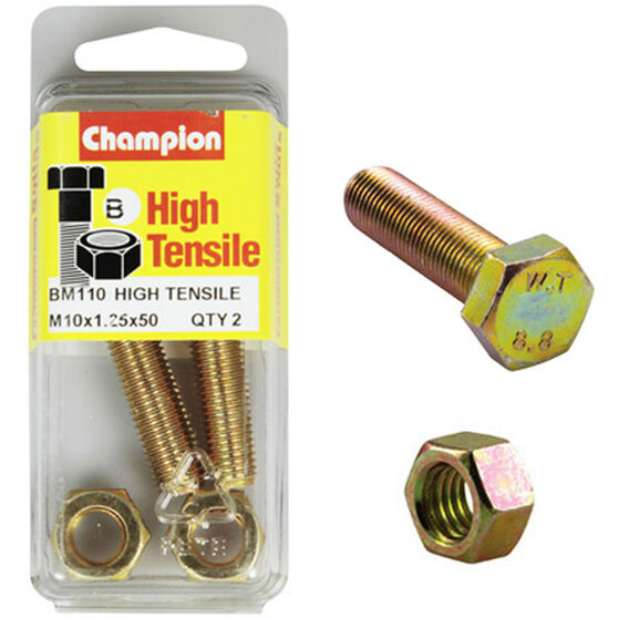 Champion High Tensile Bolts and Nuts - M10 X 45, , scanz_hi-res
