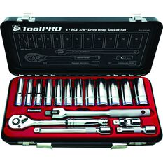 ToolPRO Socket Set - 3 / 8 inch Drive, Metric, 17 Piece, , scanz_hi-res