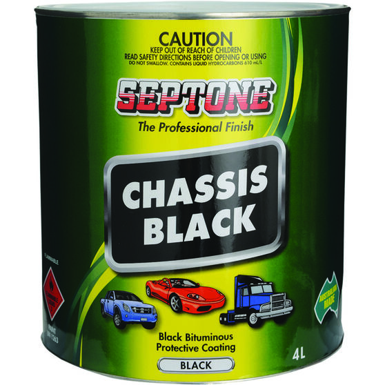 Septone Chassis Paint - Black, 4 Litre, , scanz_hi-res