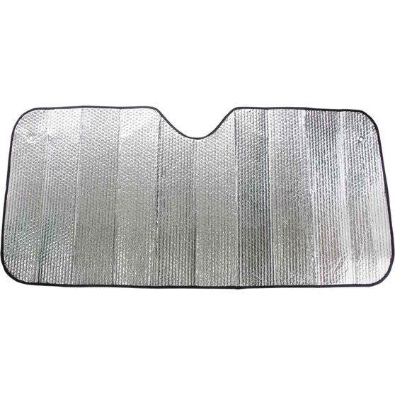 Small Bubble Sunshade - Silver, Accordion, Front, , scanz_hi-res