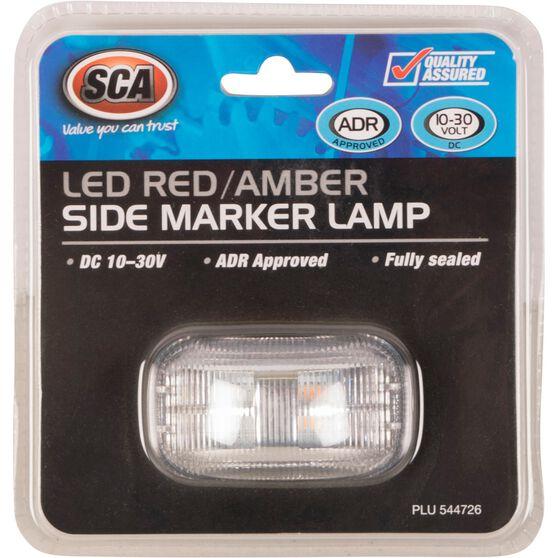 SCA Side Marker - LED, Red / Amber, 10-30V, , scanz_hi-res