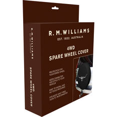 R.M.Williams 4WD Spare Wheel Cover - Black, , scanz_hi-res