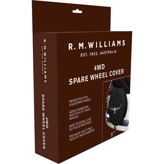 R.M.Williams 4WD Spare Wheel Cover - Black, , scanz_hi-res