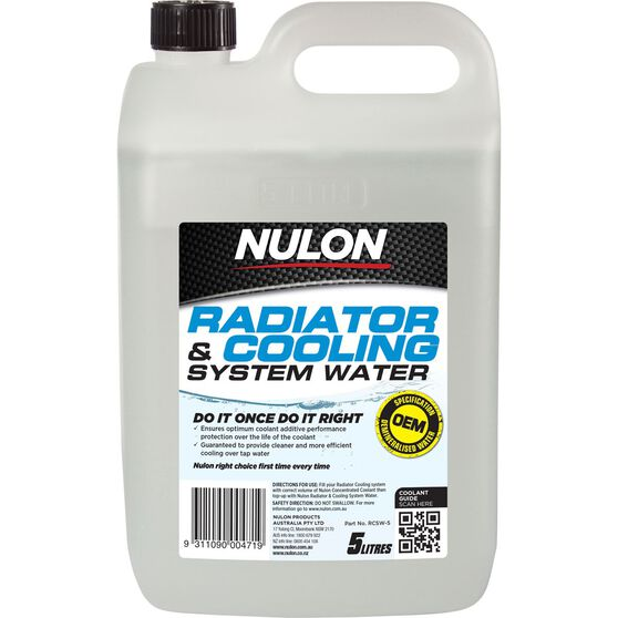 Nulon Radiator Cooling System Water - 5 Litre, , scanz_hi-res