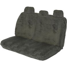 SCA Comfort Fur Seat Cover - Slate, Adjustable Headrests, Size 06H, Rear Seat, , scanz_hi-res