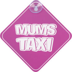 Cabin Crew Kids Mums Taxi Sign, , scanz_hi-res