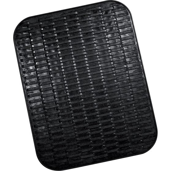 Single Floor Mat - Rubber, Black, 458 x 390mm, , scanz_hi-res