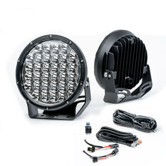 Enduralight 220mm LED Driving Lights 86W with harness, , scanz_hi-res