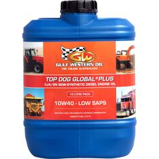 Gulf Western Top Dog Global Plus Engine Oil, 10W-40 -10 Litre, , scanz_hi-res