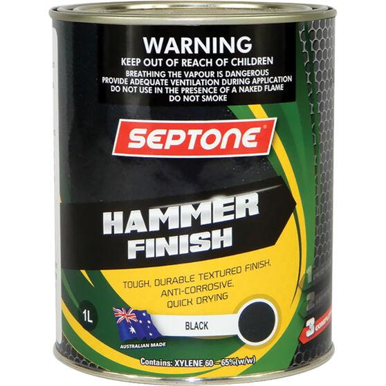 Septone Paint Hammer Finish - Black, 1 Litre, , scanz_hi-res