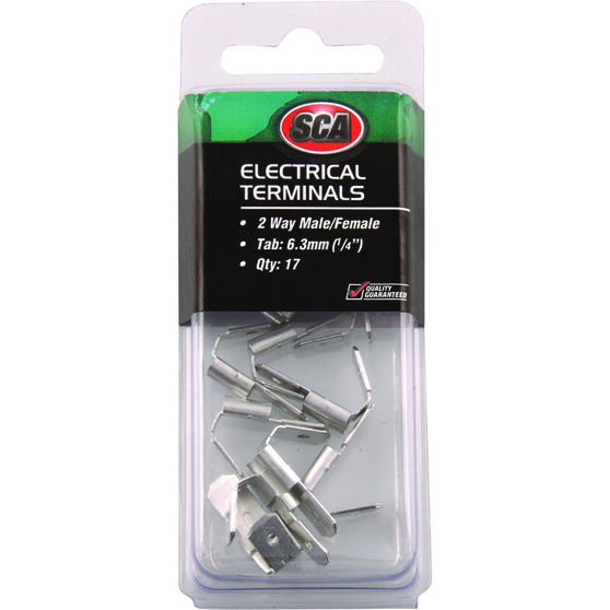 SCA Electrical Terminals - 2 Way Male / Female, 17 Pack, , scanz_hi-res