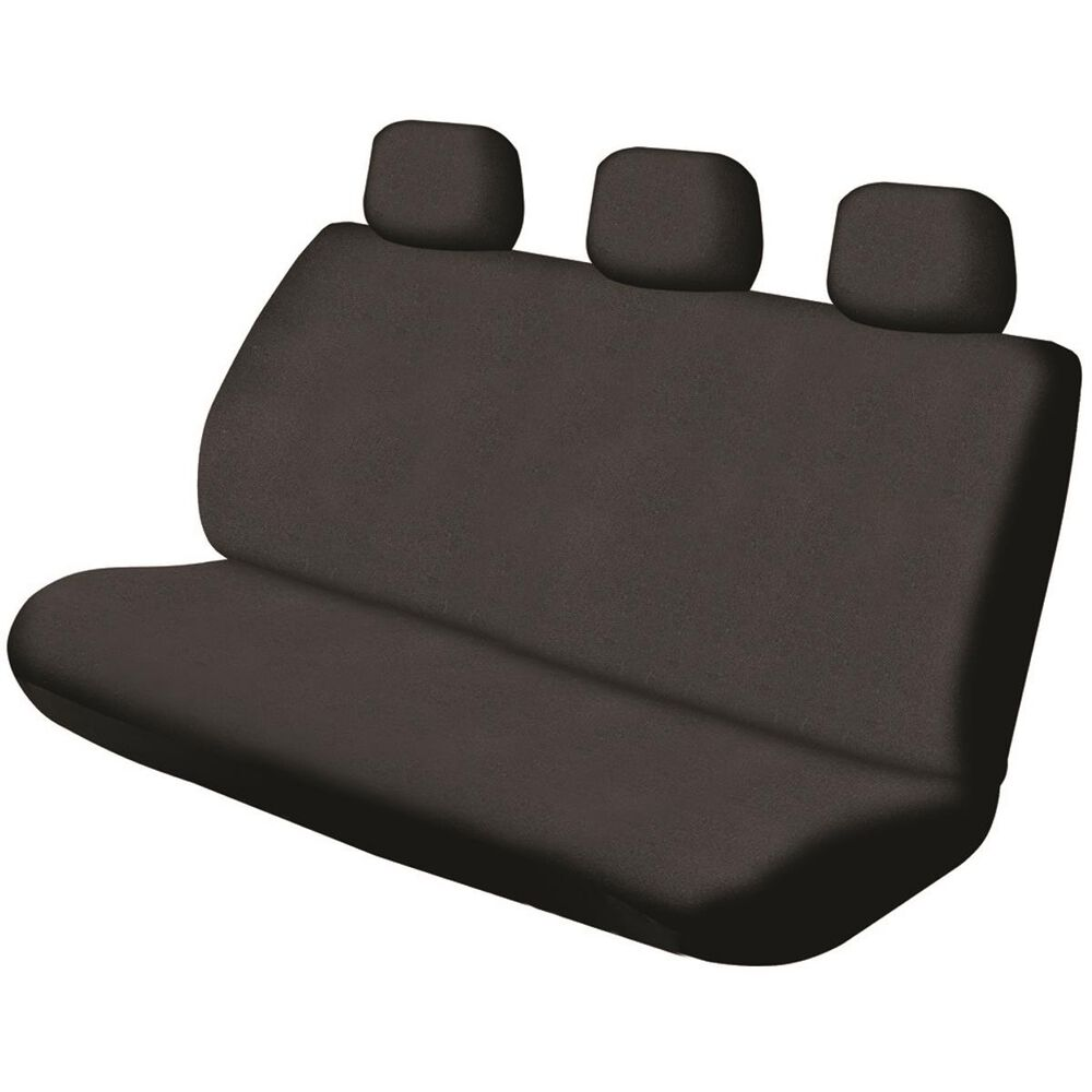 Sca Canvas Seat Cover Black Adjustable Headrests Size