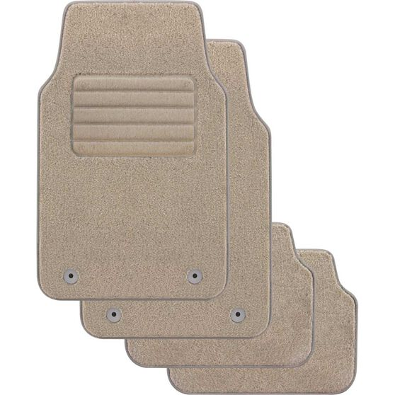 SCA Optimum Car Floor Mats - Carpet, Beige, Set of 4, , scanz_hi-res