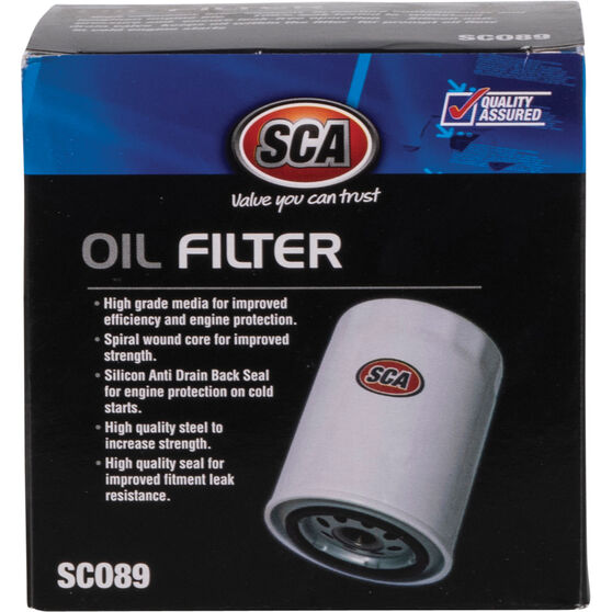 SCA Oil Filter - SCO89 (Interchangeable with Z89A), , scanz_hi-res