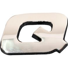 SCA 3D Chrome Badge Letter Q, , scanz_hi-res