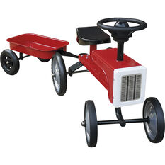 Ride on Tractor and Trailer Set - Red, , scanz_hi-res
