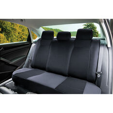 SCA Jacquard Seat Covers - Charcoal Adjustable Headrests Rear Seat, , scanz_hi-res